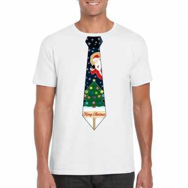 Kersttrui Fout.Fout Kerst T Shirt Wit Met Kerstboom Stropdas Voor Heren Kersttrui