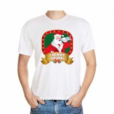 Foute kerst t-shirt wit im not drunk voor heren