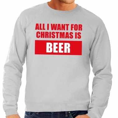 Grote Maten Foute Kersttrui.Foute Kersttrui Christmas Beer Grijs Voor Heren Kersttrui Heren Nl