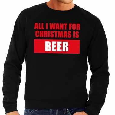 Foute kersttrui christmas beer zwart voor heren