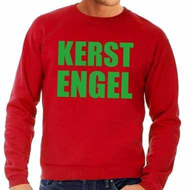 Foute kersttrui kerst engel rood voor heren