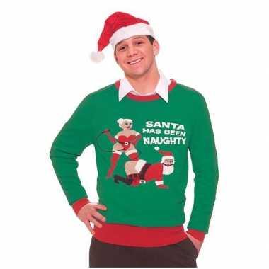 Kersttrui Heren L.Foute Kersttrui Naughty Santa Heren Kersttrui Heren Nl