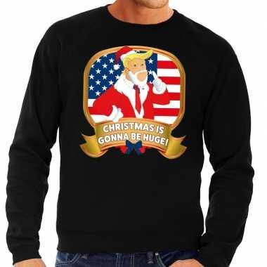 Foute kersttrui zwart christmas is gonne be huge voor heren