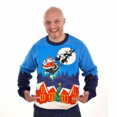 Heren kersttrui sleigh ride