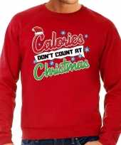 Foute kersttrui calories dont count christmas rood voor heren