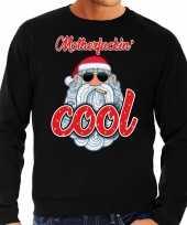 Foute kersttrui stoere kerstman motherfucking cool zwart heren