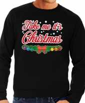 Foute kersttrui zwart take me its christmas voor heren 10129996